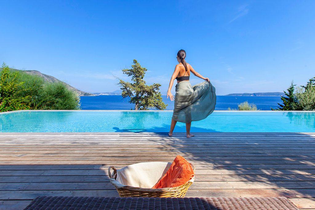 villa aurora afteli lefkada greece private infinity pool