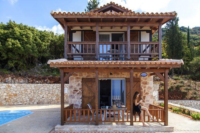 private cottage in chortata village lefkada