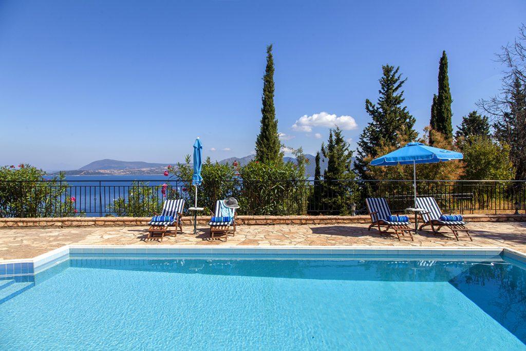 villa poseidon in nikiana lefkada with private pool and sea views