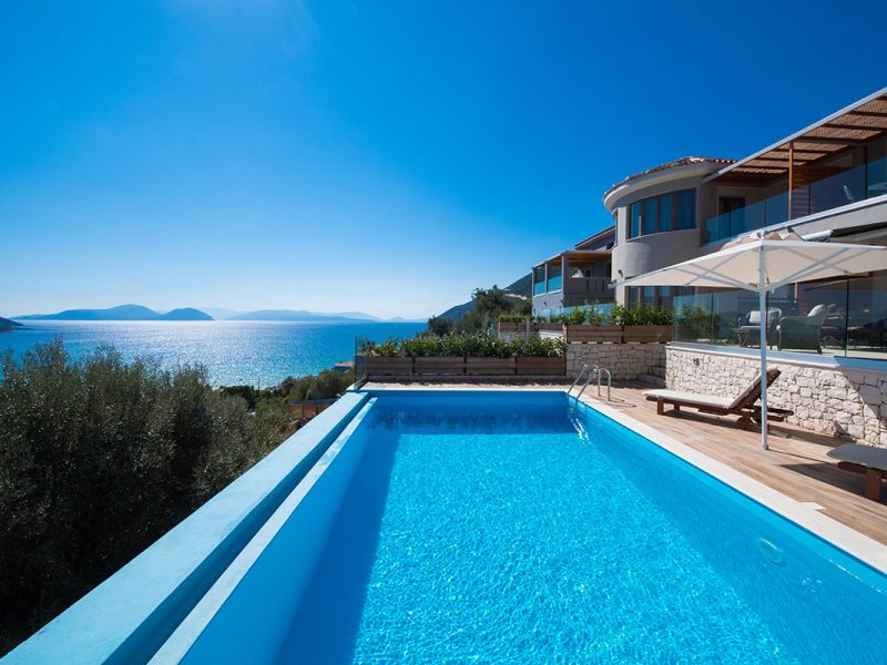 villa mare in vasiliki lefkada greece with panoramic sea view