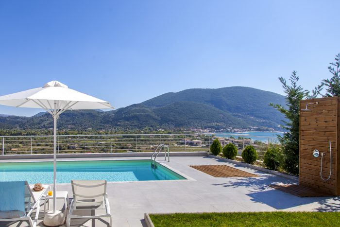villa ooffwhite in vasiliki lefkada with private pool and sea views