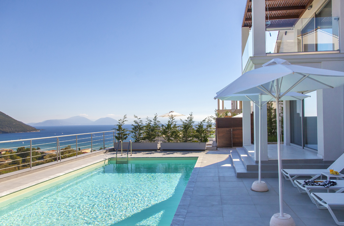villa w offwhite in vasiliki lefkada with private pool and sea view