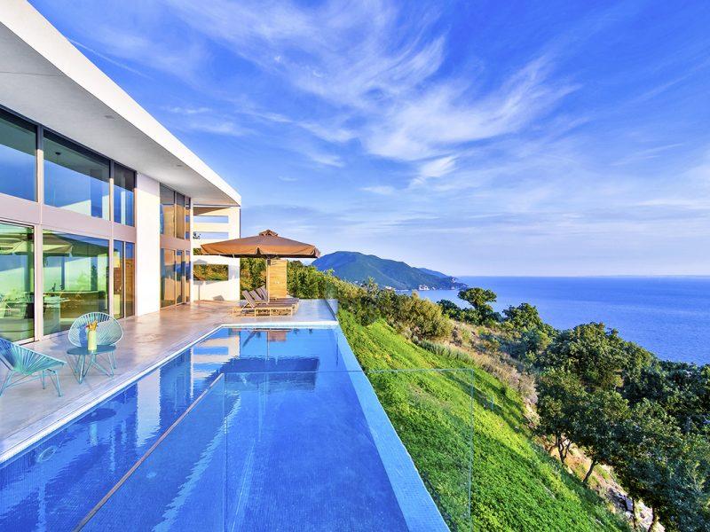 villa blue infinity in sivota epirus greece