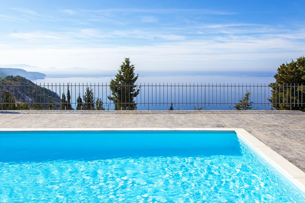 villa ble on blue in athani lefkada with private pool and ionian sea views