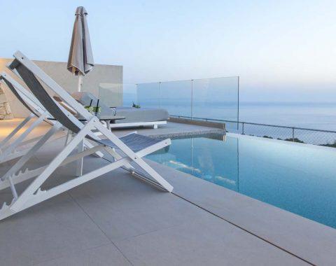 villa ioulia sivota epirus greece infinity pool with ocean view