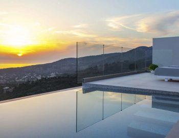 villa michaela cave style sivota thesprotias sunset mountain view infinity ocean