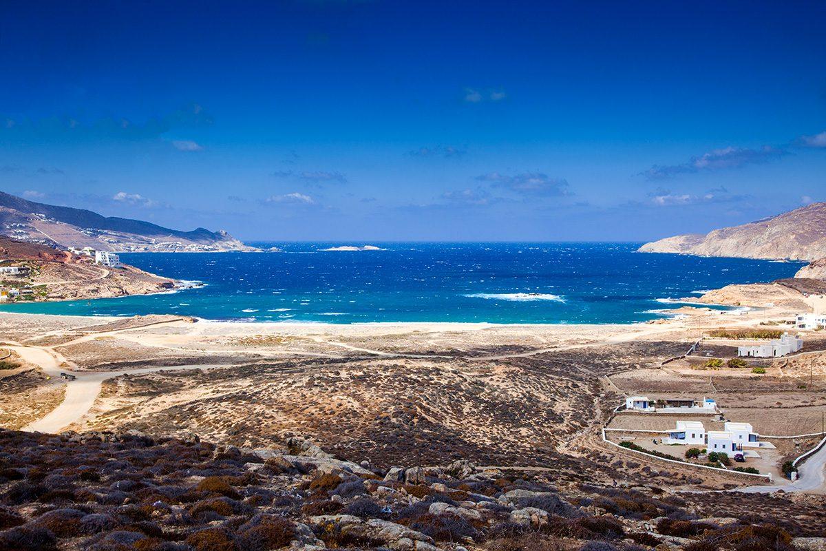 Ftelia beach, Mykonos, Greece
