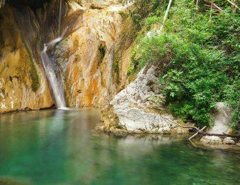 nidri waterfalls lefkada greece