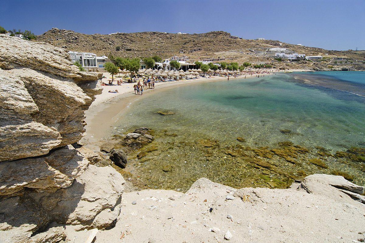 Super Paradise Beach, Mykonos, Cyclades, Greece, Europe