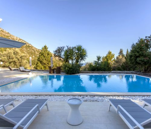 luxury sunbeds to relax by private pool