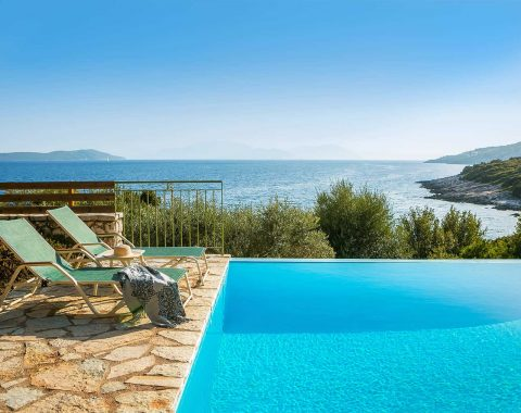 villa anemos in sivota lefkada with infinity private pool and ionian sea view