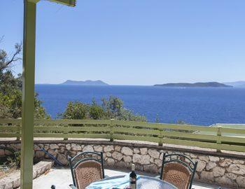 villa anemus sivota lefkada greece outdoor seating with sea view