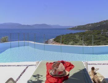 villa anemus sivota lefkada greece sunbed by the pool