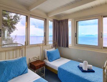 villa anemus sivota lefkada greece twin bedroom with sea view