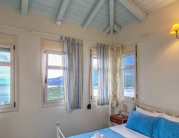 villa anemus sivota lefkada greece upper bedroom with sea view