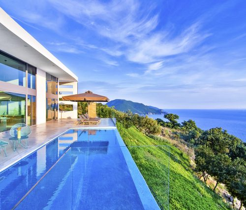 villa blue infinity in sivota epirus greece