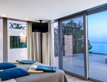 villa blue infinity syvota epirus greece double bedroom ionian sea view