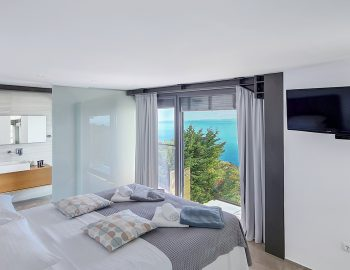 villa blue infinity syvota epirus greece luxury bedroom with sea views