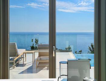 villa blue infinity syvota epirus greece luxury kitchen with sea view