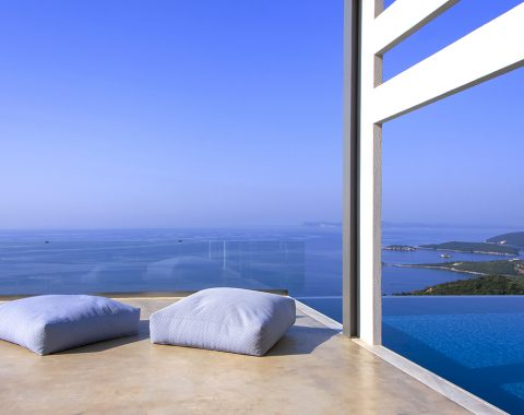 villa blue ionian in sivota epirus greece with private pool and sea views
