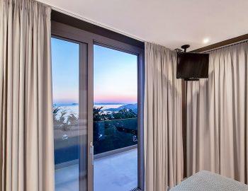 villa blue ionian syvota epirus greece double bedroom with sunset