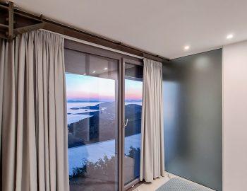 villa blue ionian syvota epirus greece upper bedroom sunset