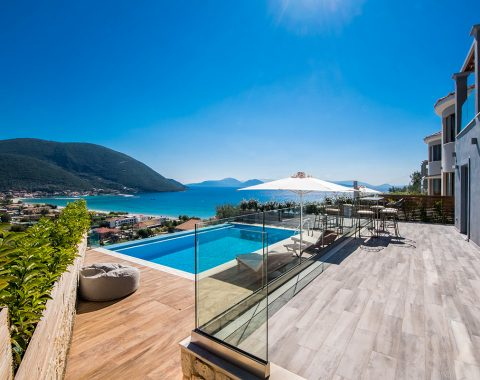 villa ostria in vasiliki lefkada greece with private pool and sea view