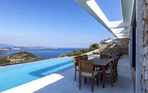 villa eco luxe in sivota lefkada with private pool and sea view of the ionian sea