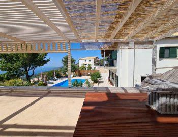 villa endless blue kalamitsi lefkada greece outdoor dining area