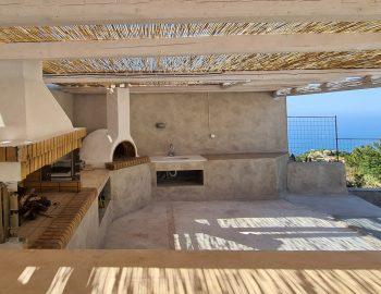 villa endless blue kalamitsi lefkada greece wood oven