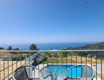 villa klearista kalamitsi lefkada greece balcony with sea view