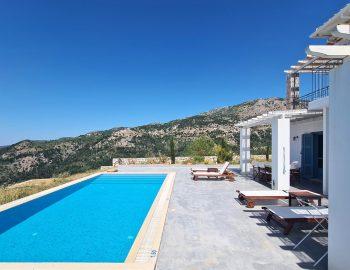 villa klearista kalamitsi lefkada greece pool area with mountain view