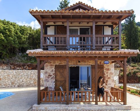 private cottage in chortata village lefkada