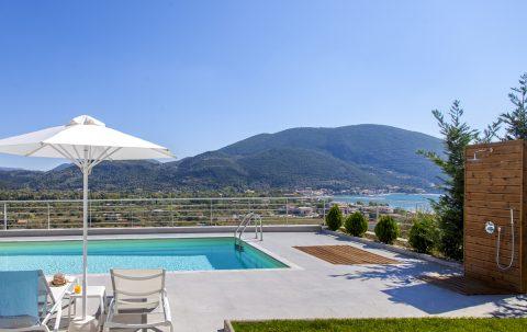 villa o-offwhite in vasiliki lefkada with private pool and sea views