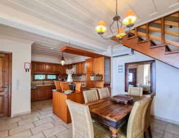 villa ostria sivota lefkada greece dining kitchen area