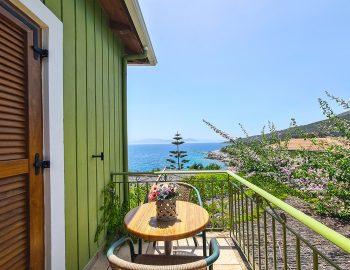 villa ostria sivota lefkada greece traditional balcony with flower garden