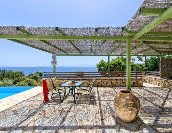 villa ostria sivota lefkada greece traditional outdoor dining