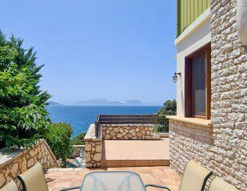 villa pelagos sivota lefkada greece outdoor dining with sea view