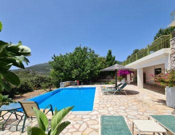 villa pelagos sivota lefkada greece private pool and garden area