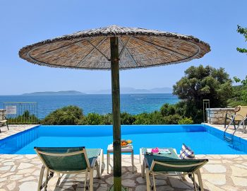 villa pelagos sivota lefkada greece private pool with sunbeds