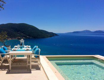 villa ponti in vasiliki lefkada with infinity pool across the ionian sea