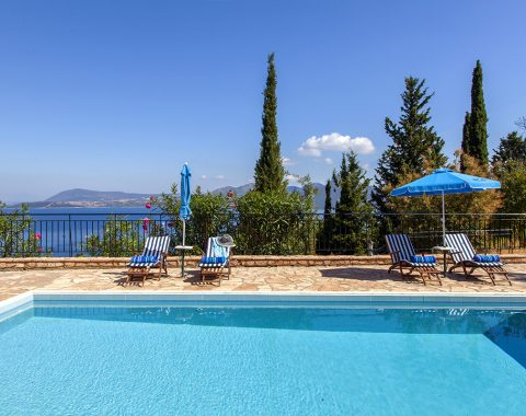 villa poseidon in nikiana lefkada with private pool and sea views