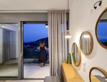 villa roya sivota lefkada greece bedroom night view