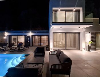 villa roya sivota lefkada greece night view
