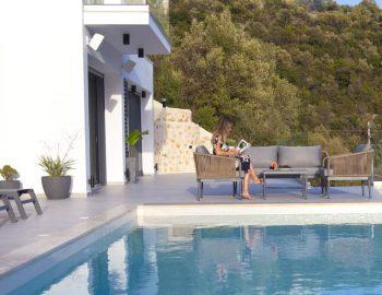 villa roya sivota lefkada greece private pool area