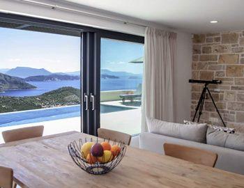villa sky sivota lefkada greece dining area with sea view