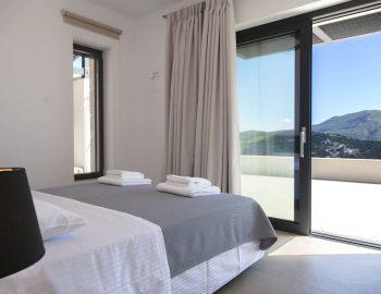 villa sky sivota lefkada greece double bedroom with mountain views