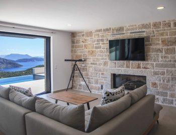villa sky sivota lefkada greece lounge area with pool and sea view