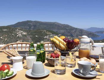villa sky sivota lefkada greece morning breakfast with sea view