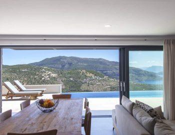 villa sky sivota lefkada greece open living area with pool view
